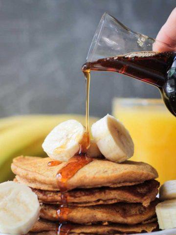 Banana Pumpkin Spice Pancakes