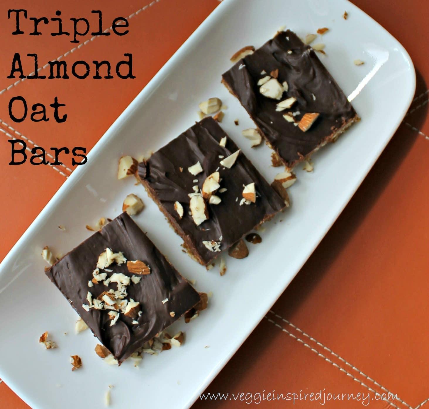 Triple Almond Oat Bars
