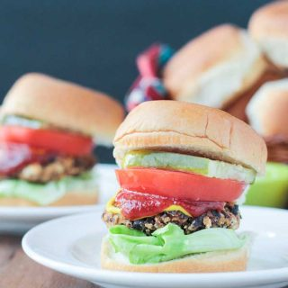 Black Bean Salsa Burgers (15 Minute Recipe)