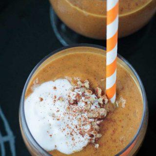 Pumpkin Pie Smoothie (Dairy Free, Gluten Free)