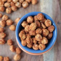 Smoky Roasted Chickpeas (Dairy Free, Gluten Free)