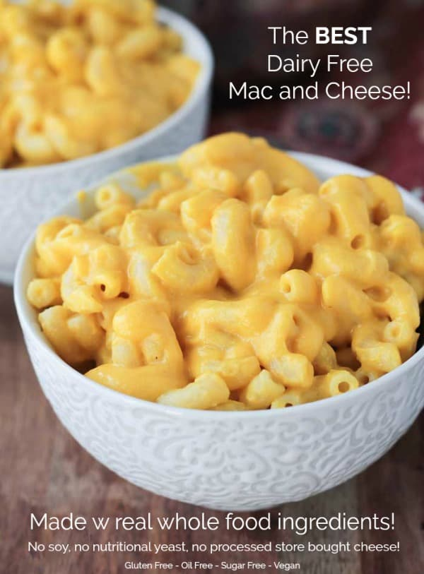 Butternut Squash Mac and Cheese - this is the BEST vegan mac and cheese you'll ever have! Made from all whole food plant based ingredients, it's healthy for you too! Kid approved! The perfect dairy free dinner! #vegan #dairyfree #macandcheese #pasta