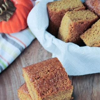 Pumpkin Maple Cornbread (Oil Free, Dairy Free, Vegan)