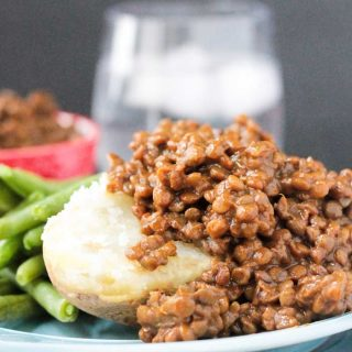 Sweet and Smoky BBQ Lentils (Tomato Free!)
