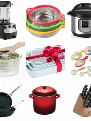collage of kitchen items