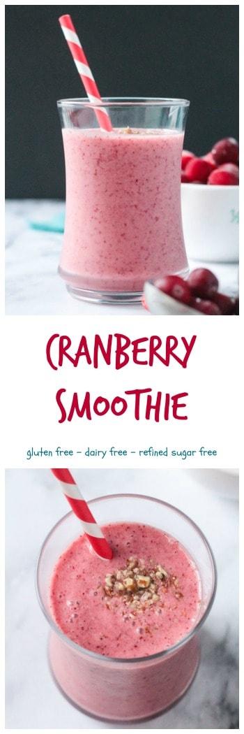 frozen cranberry smoothie
