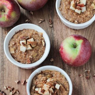 Apple Pie Spiced Mixed Grain Hot Breakfast Cereal