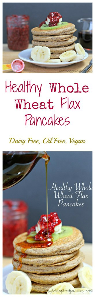 Healthy Whole Wheat Flax Pancakes