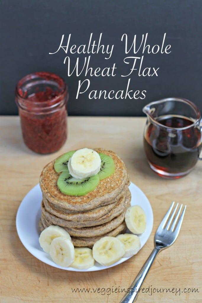 Whole Wheat Flax Pancakes