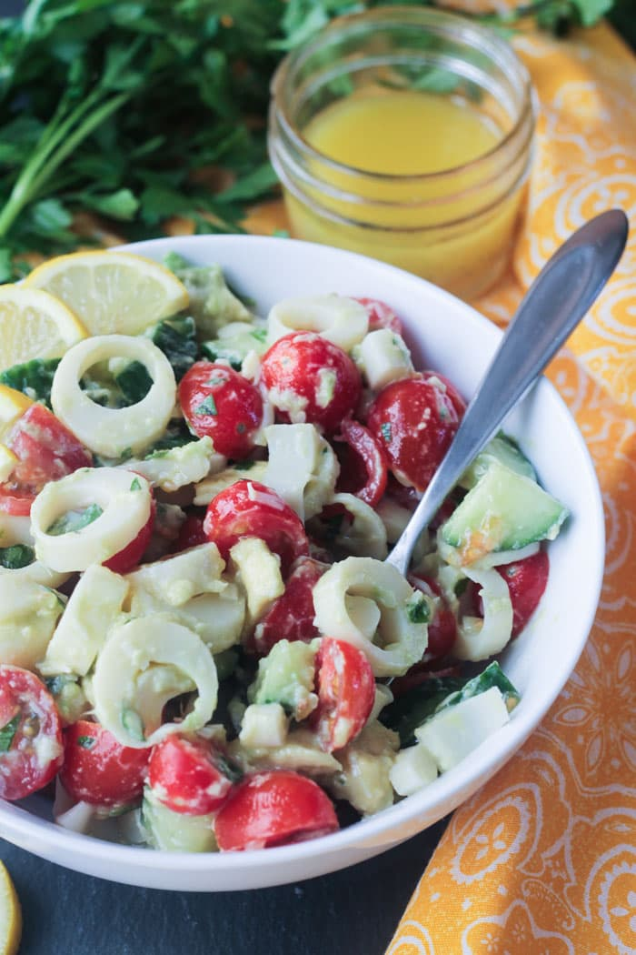 Hearts of Palm Salad with Simple Lemon Vinaigrette ~ Veggie Inspired