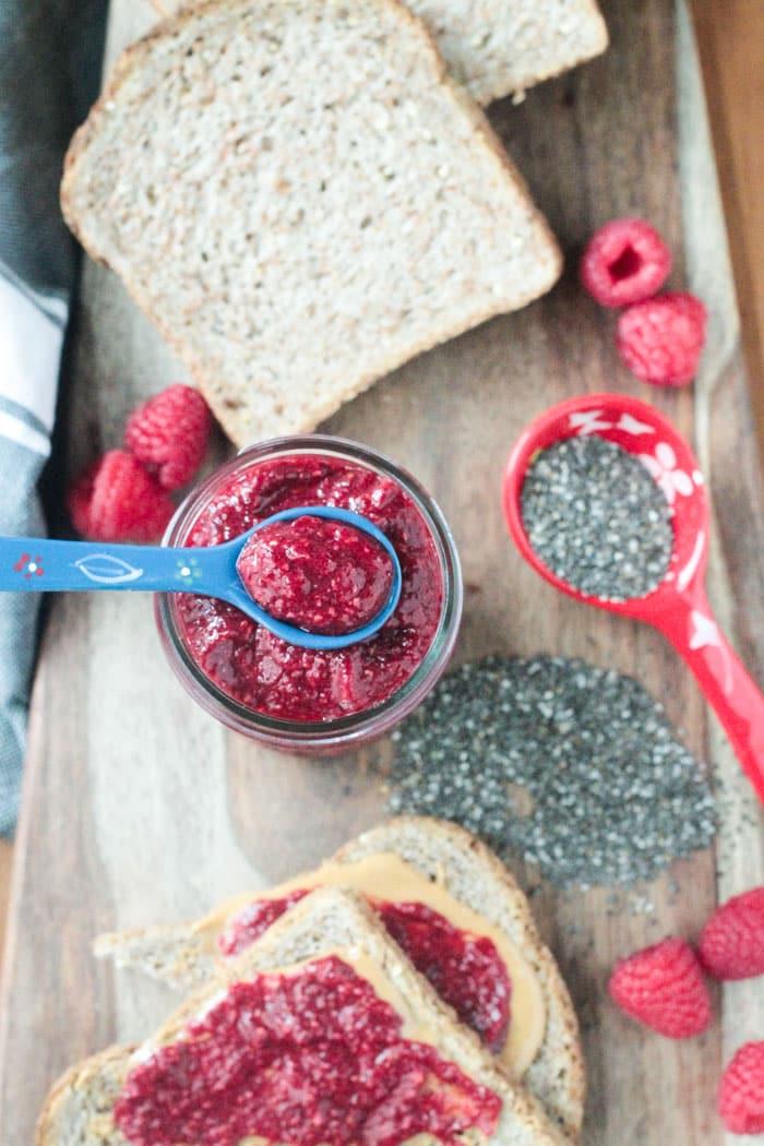 Raspberry Pineapple Chia Seed Jam