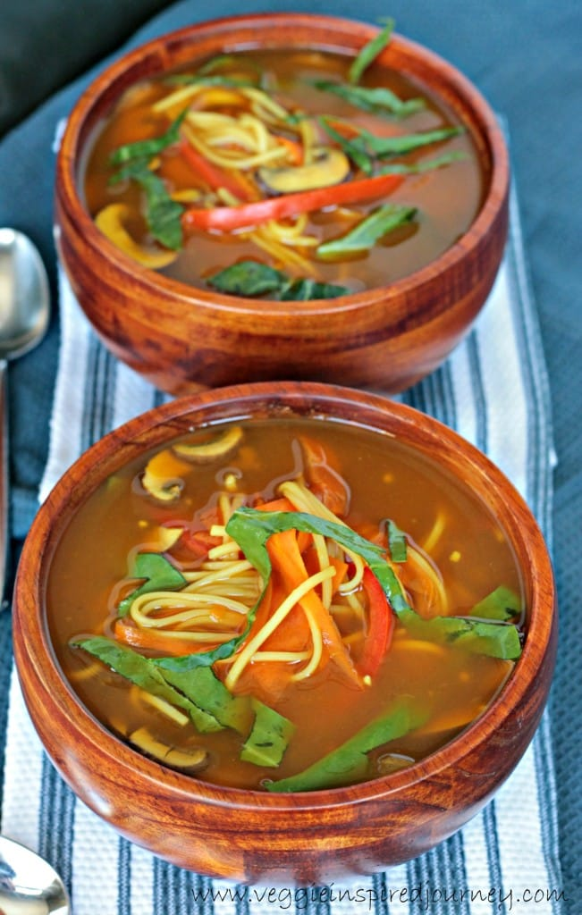 Quick Homemade Vegetable Ramen Soup