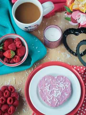 Raw Vegan Raspberry Cheesecake Tartlets for Two