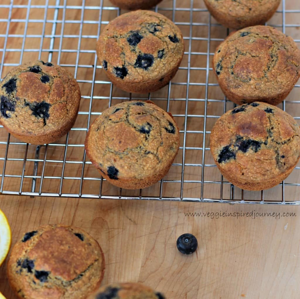 Blueberry Lemon Cornmeal Muffins ~ Veggie Inspired