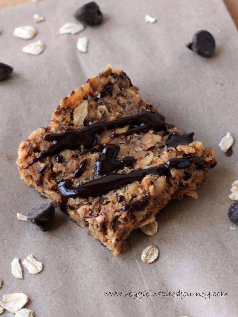No Bake Peanut Butter Granola Squares