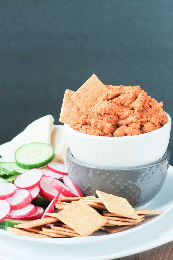 Roasted Carrot White Bean Spread
