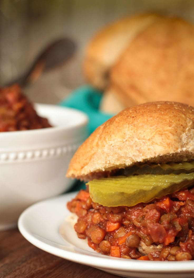 Sloppy Lentil Sandwiches