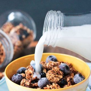 Blueberry Almond Easy Homemade Granola