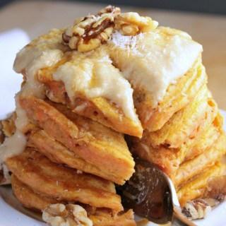 Vegan Carrot Cake Pancakes (Dairy Free)