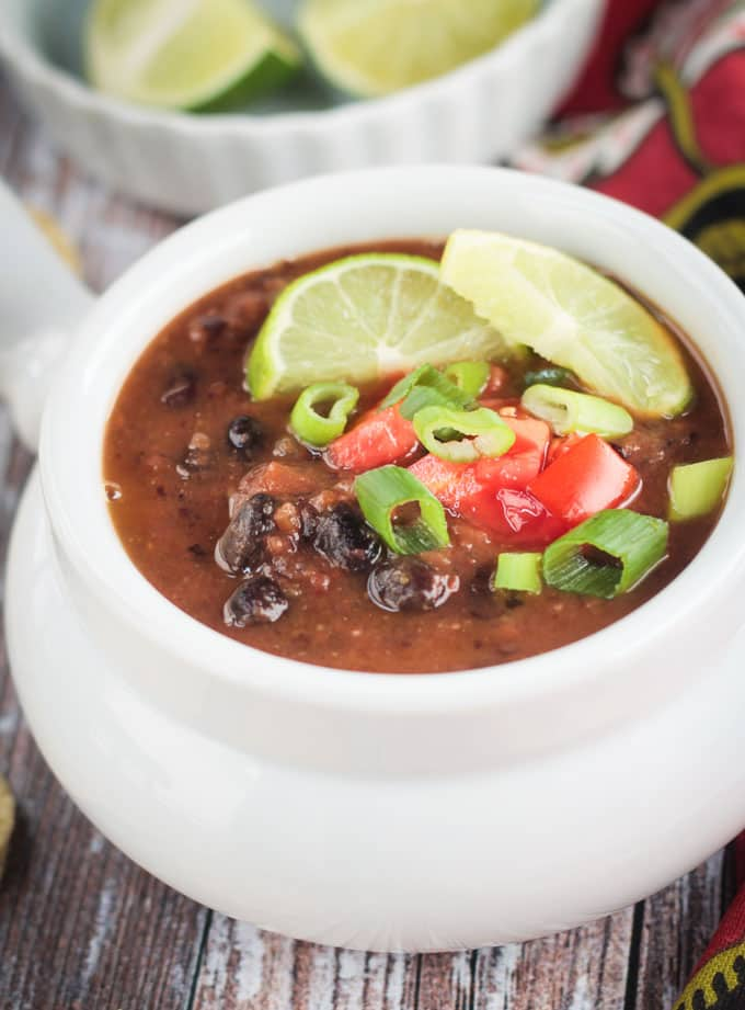 Easy Black Bean Soup (30 Minute Meal!) ~ Veggie Inspired