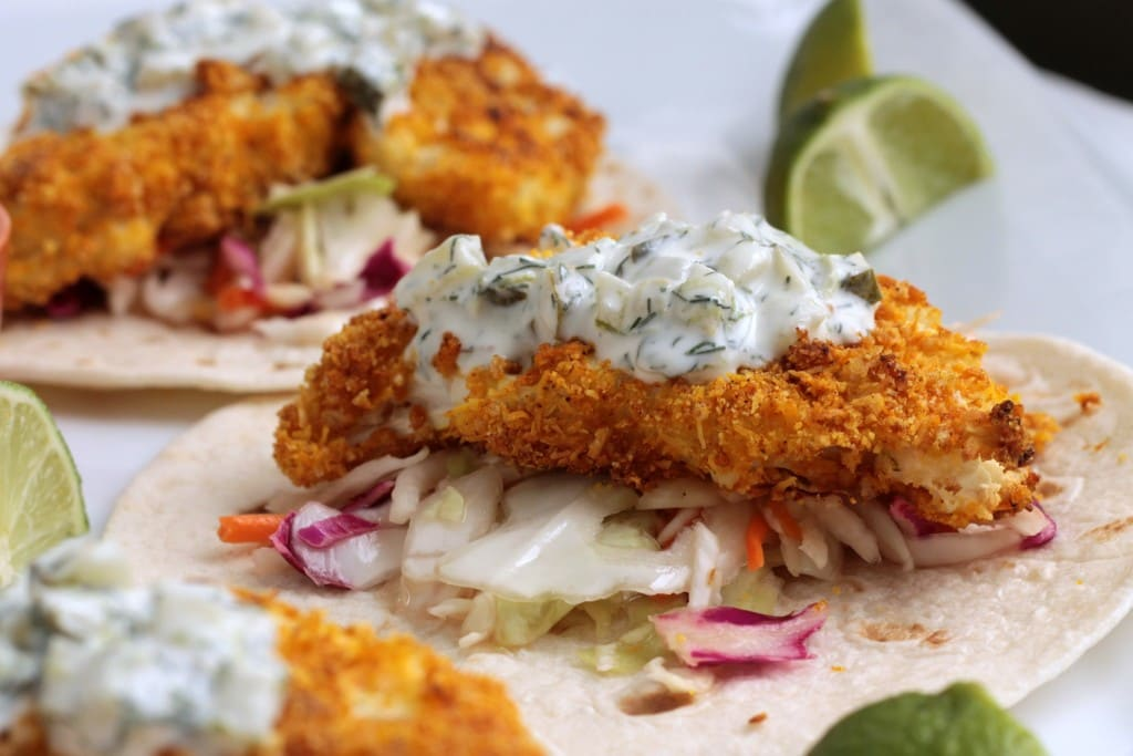 Crispy Coconut Lime Baked Cauliflower Tacos Veggie Inspired