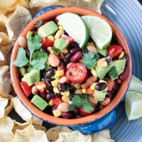 Smoky Cilantro Lime Mexican Bean Dip Recipe