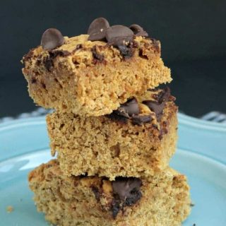 stack of 3 snack bars with chocolate chips