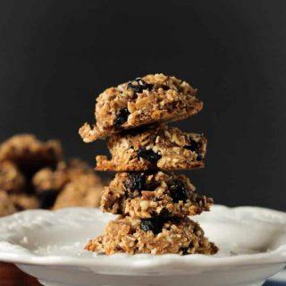 stack of 4 rustic cookies