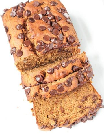 Peanut Butter Banana Bread w/ Chocolate Chips
