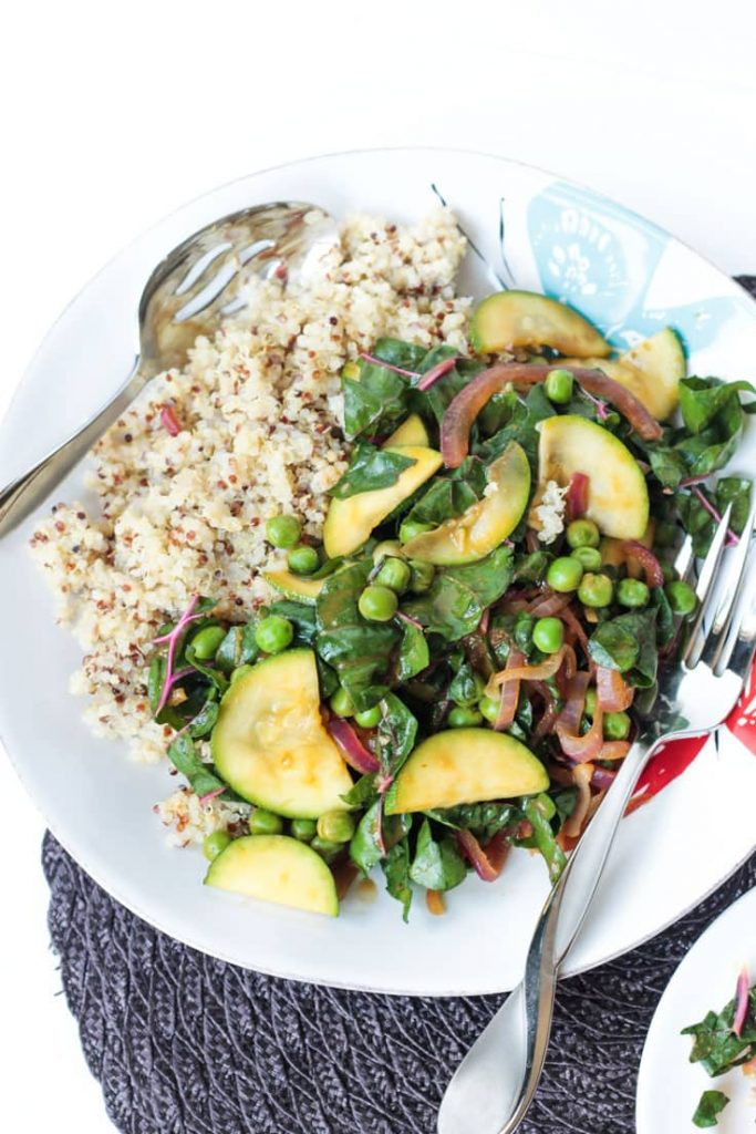 Quinoa with Garden Vegetables