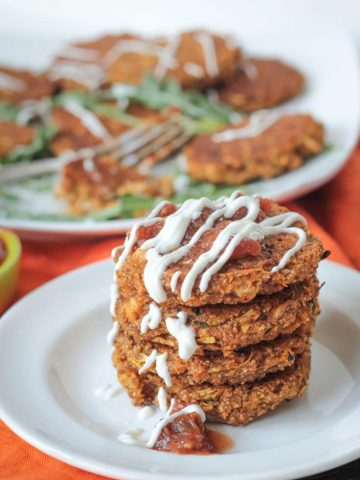 Baked Zucchini Amaranth Patties