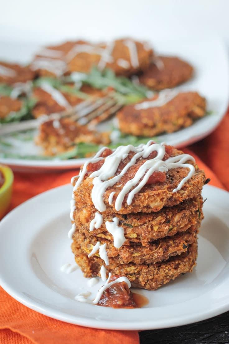 Baked Zucchini Amaranth Patties