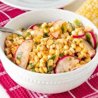 Raw Radish and Corn Salad (Gluten Free, Oil Free)
