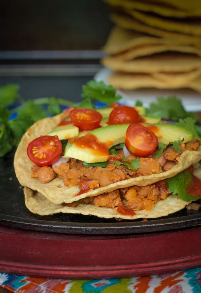 Quick and Easy Pinto Bean Tostadas