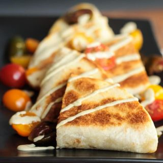 Southwest Pumpkin Risotto Quesadillas
