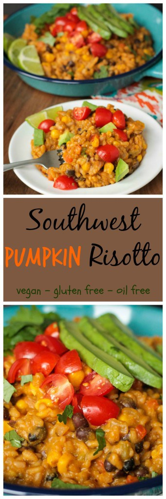 Southwest Pumpkin Risotto PIN Collage
