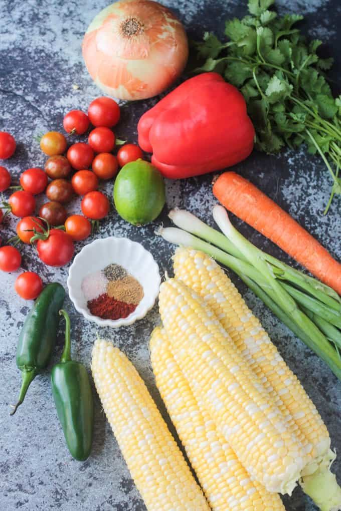 Ingredients to make Summer Corn Chowder