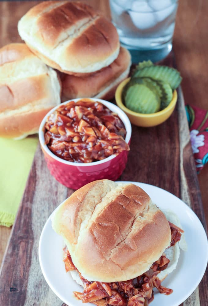 Cook the Pantry BBQ Jackfruit Sandwiches Photograph