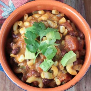 Easy Cheesy Chili Mac (dairy free)