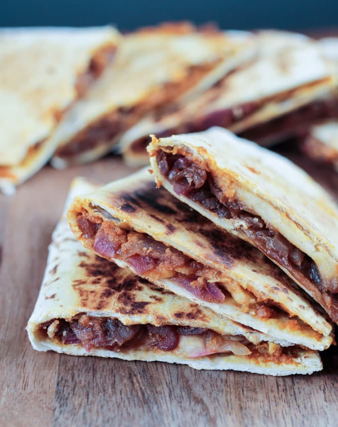 Pumpkin, Apple and Caramelized Onion Quesadilla
