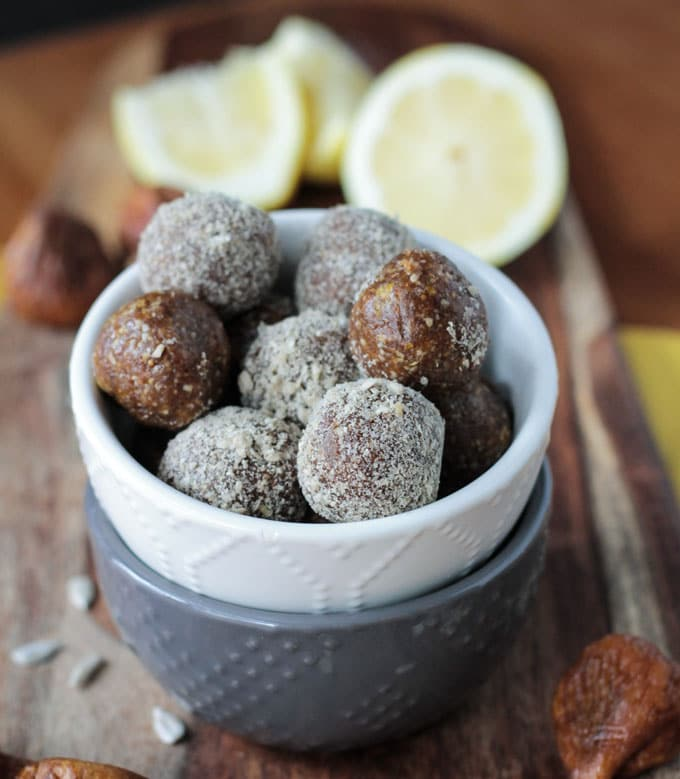 Sunflower Fig Balls
