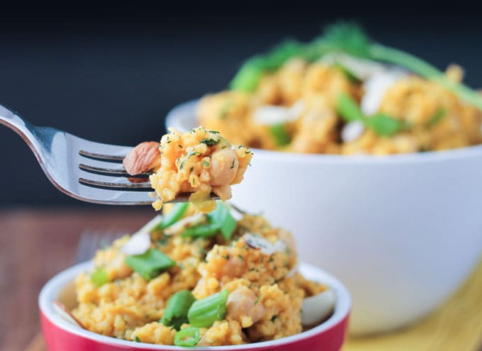 Creamy Lemon Millet w/ Chickpeas and Dill