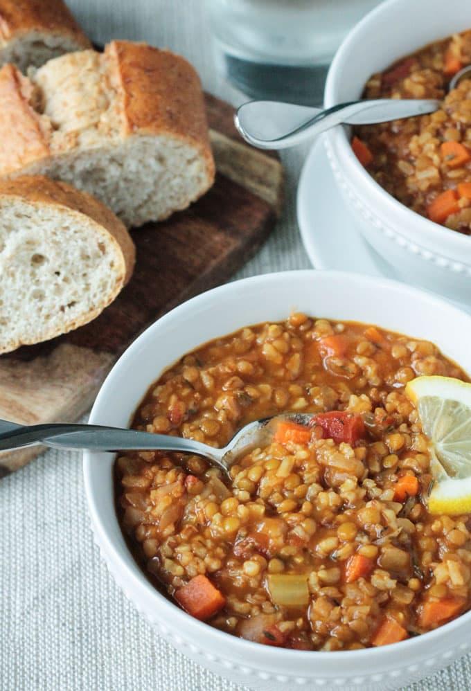 Lentil Rice Soup