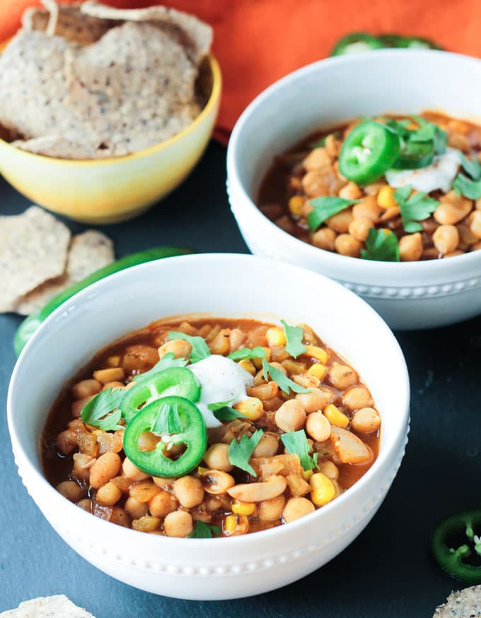 Chickpea White Chili