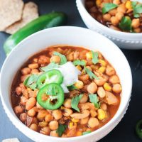 Chickpea White Chili (dairy free, vegan)