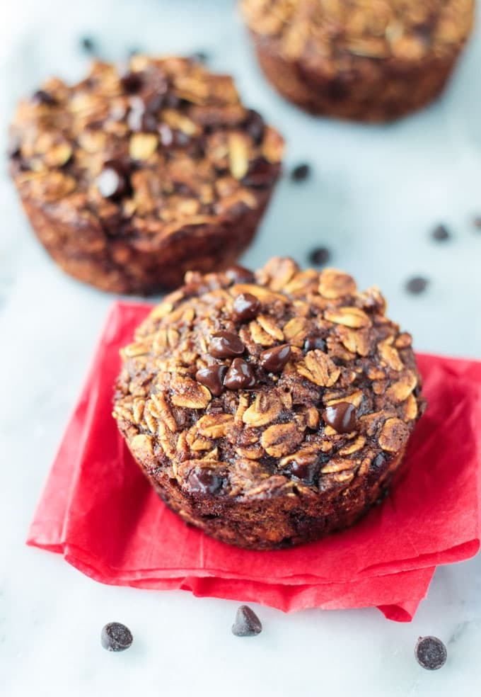 Gingerbread Chocolate Chip Baked Oatmeal Bites