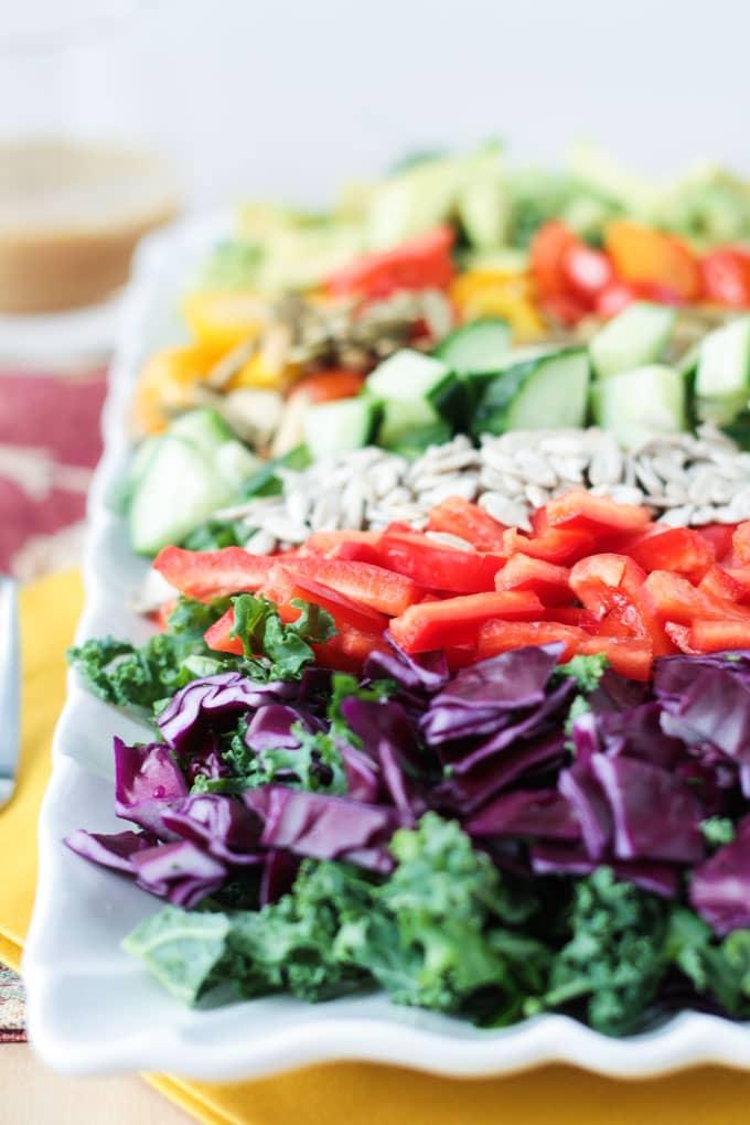Loaded Veggie Chopped Kale Salad
