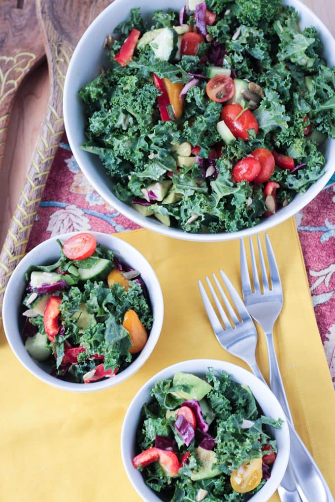 Loaded Veggie Chopped Kale Salad
