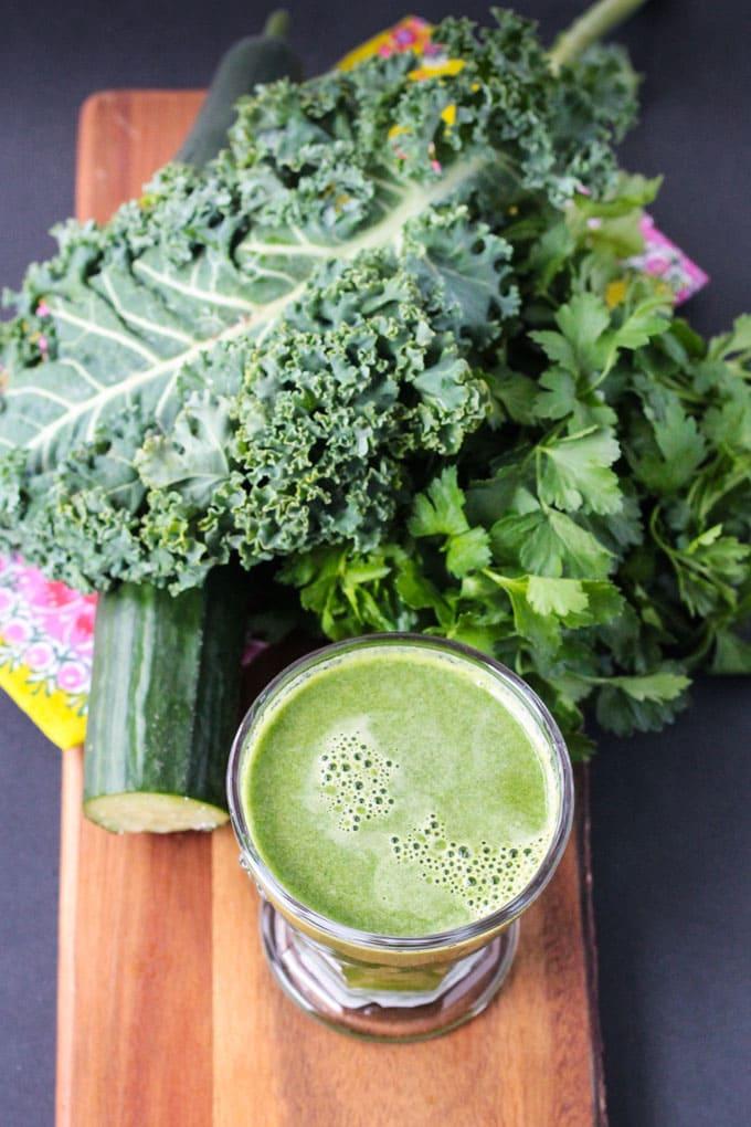 Green Vegetable Juice w/ Apples