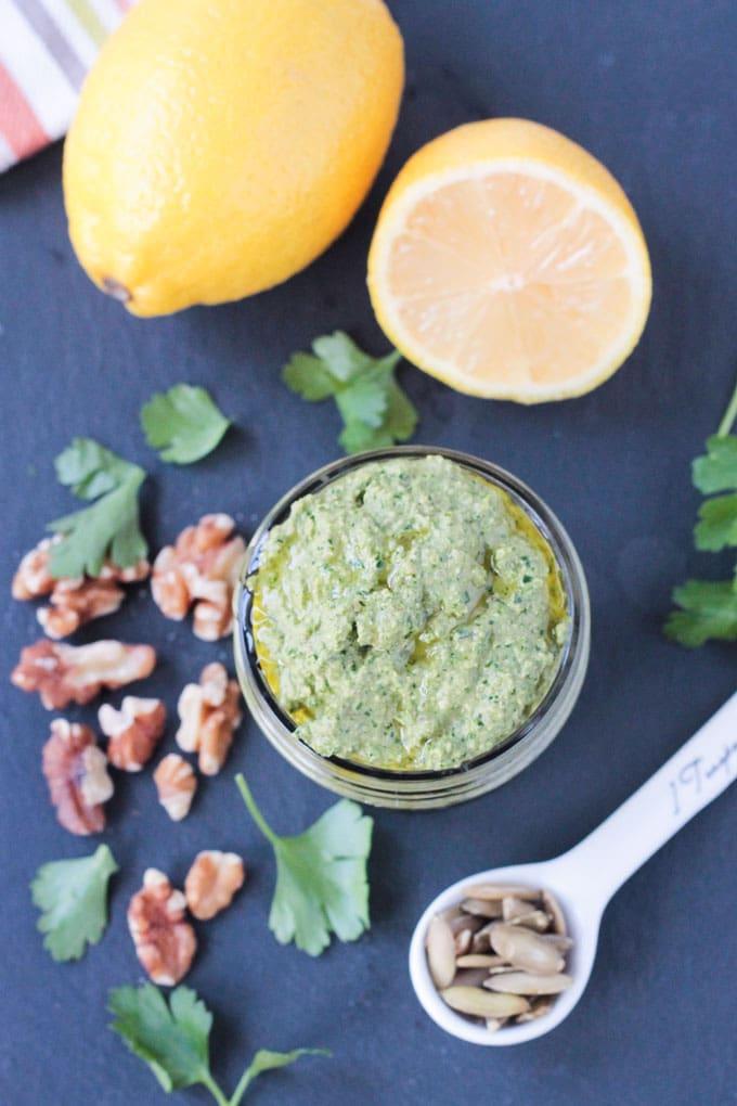 Parsley Kale Walnut Pesto